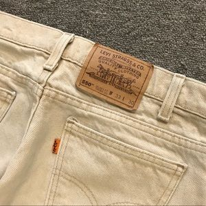 Levis Made In Usa 550 Relaxed Fit Khaki Jeans